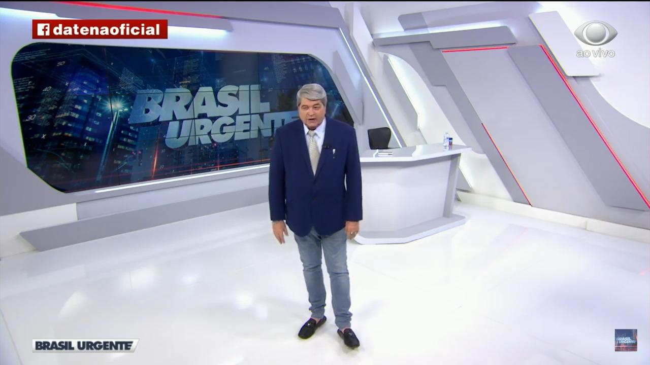 O apresentador Datena, que apresenta o Brasil Urgente na Band (Foto: Divulgação)