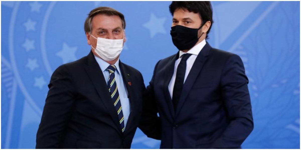 O marido de Patrícia Abravanel com o presidente Jair Bolsonaro - Foto: Reprodução