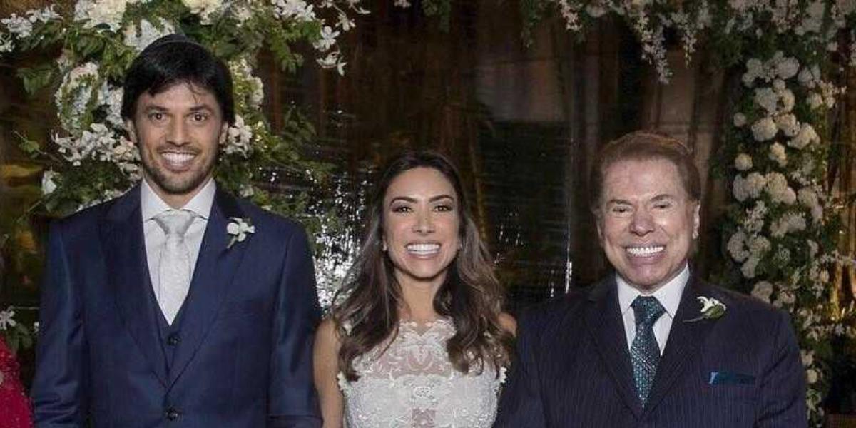 Fábio Faria, Patrícia Abravanel e Silvio Santos (Foto: Reprodução)