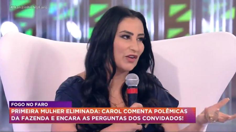 Fabíola Gadêlha afirmou que Raissa Barbosa estava encenando em A Fazenda 12 (Foto: Reprodução)