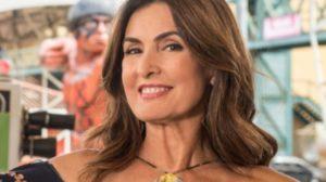 Fátima Bernardes foi surpreendida no palco do programa (Foto: Reprodução/TV Globo)