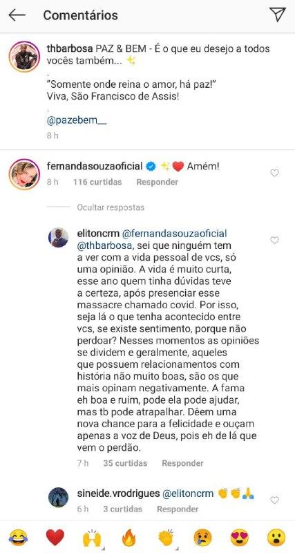 Fernanda Souza e Thiaguinho ganharam relato inédito de homem (Foto: Reprodução/ Instagram)
