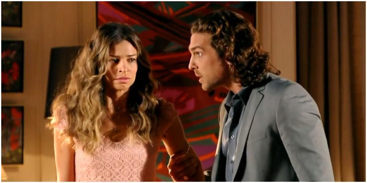 Ester e Alberto em cena da novela Flor do Caribe - Foto: Reprodução