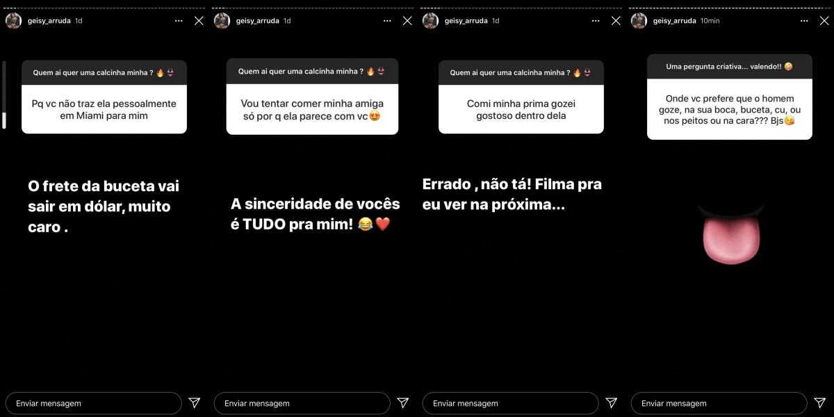 Geisy Arruda respondeu questionamentos feitos por seus seguidores (Foto: reprodução/Instagram)