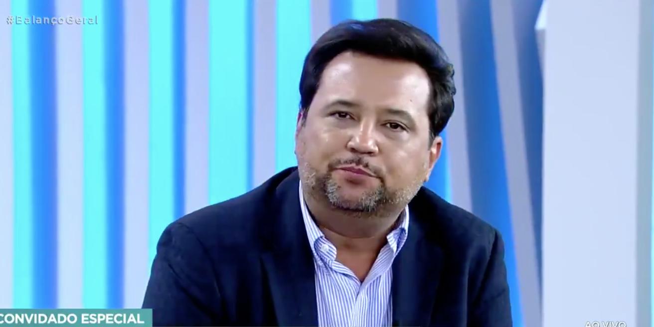 Geraldo Luís retornou ao 'Balanço Geral SP' (Foto: reprodução/Record)