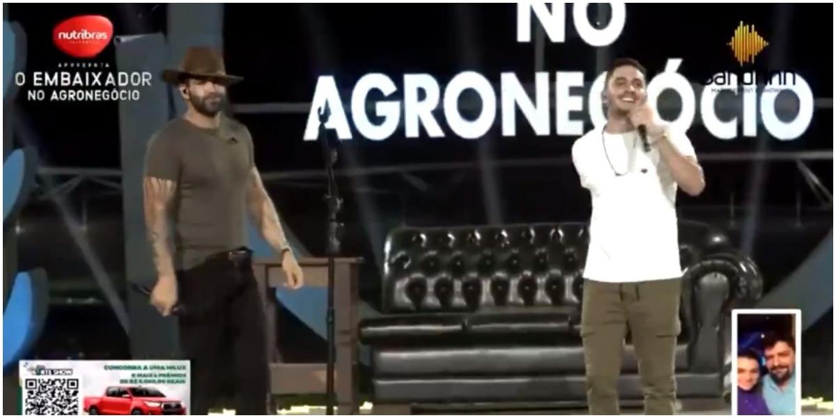 Gusttavo Lima e Jonas Esticado cantaram Investe em Mim - Foto: Reprodução