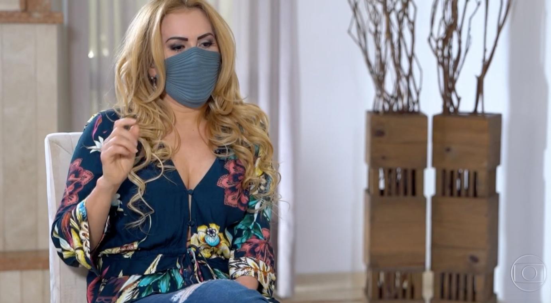 Joelma esteve no Fantástico e falou sobre a doença que a deixou 60 dias na cama (Foto: Reprodução/ Globo)