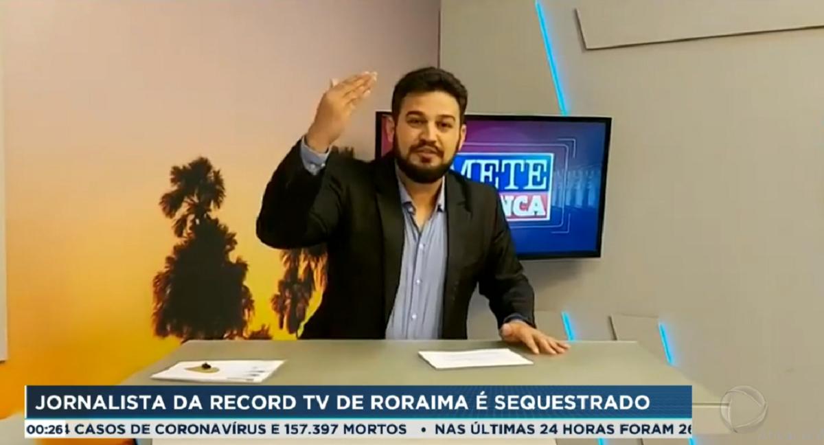 Jornalista da Record TV foi sequestrado (Foto: Reprodução)
