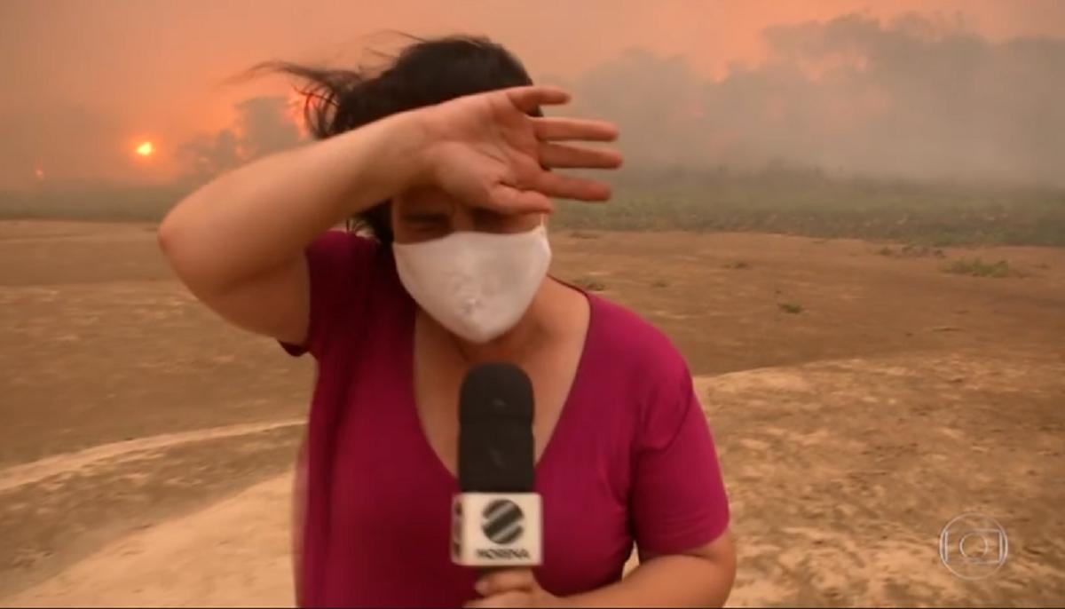 Jornalista da Globo passou por apuros em reportagem (Foto: Reprodução)