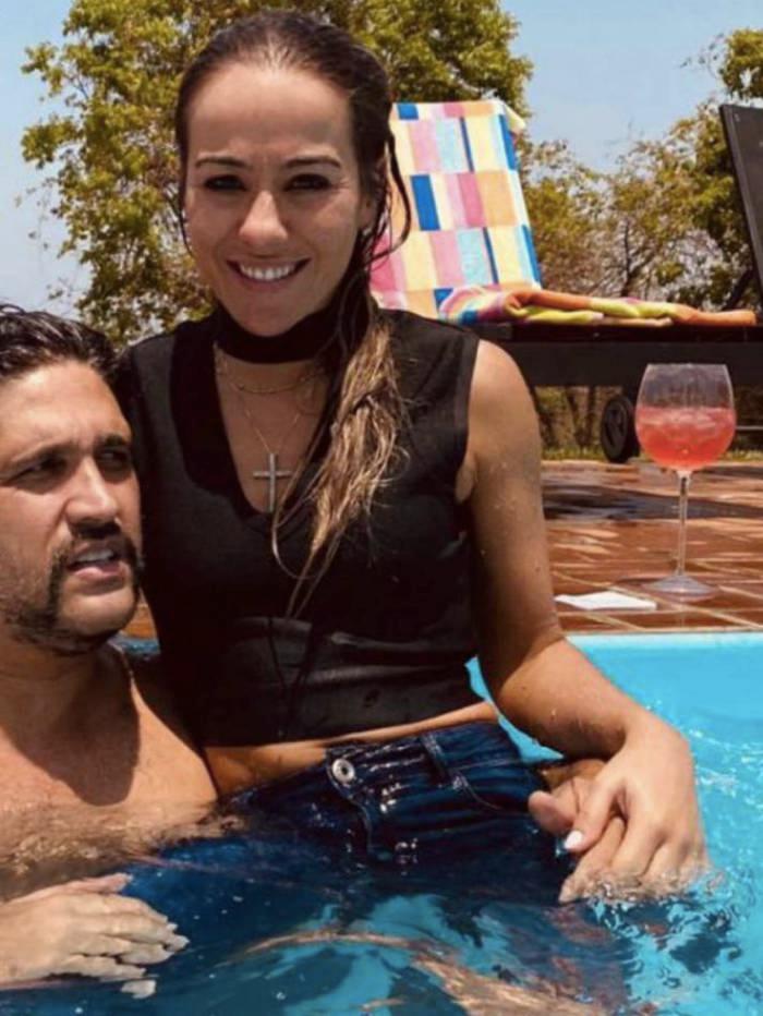 Leo Chaves e sua atual namorada (Foto: reprodução)