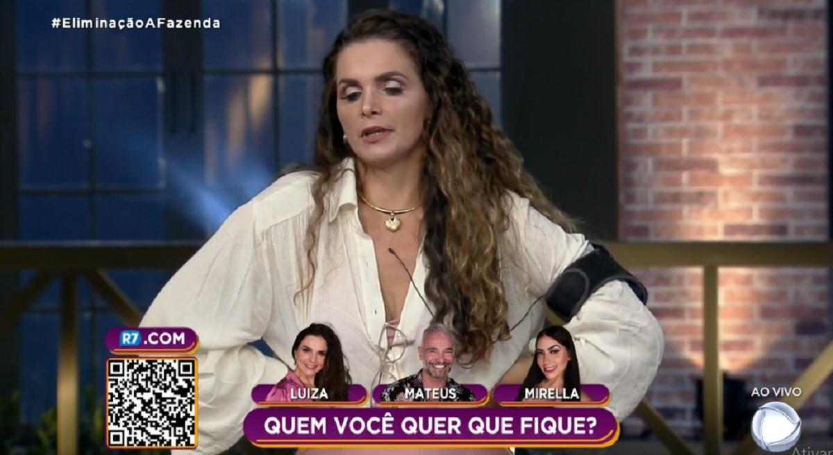 Luiza Ambiel foi a sexta eliminada de A Fazenda 12 (Foto: Reprodução)