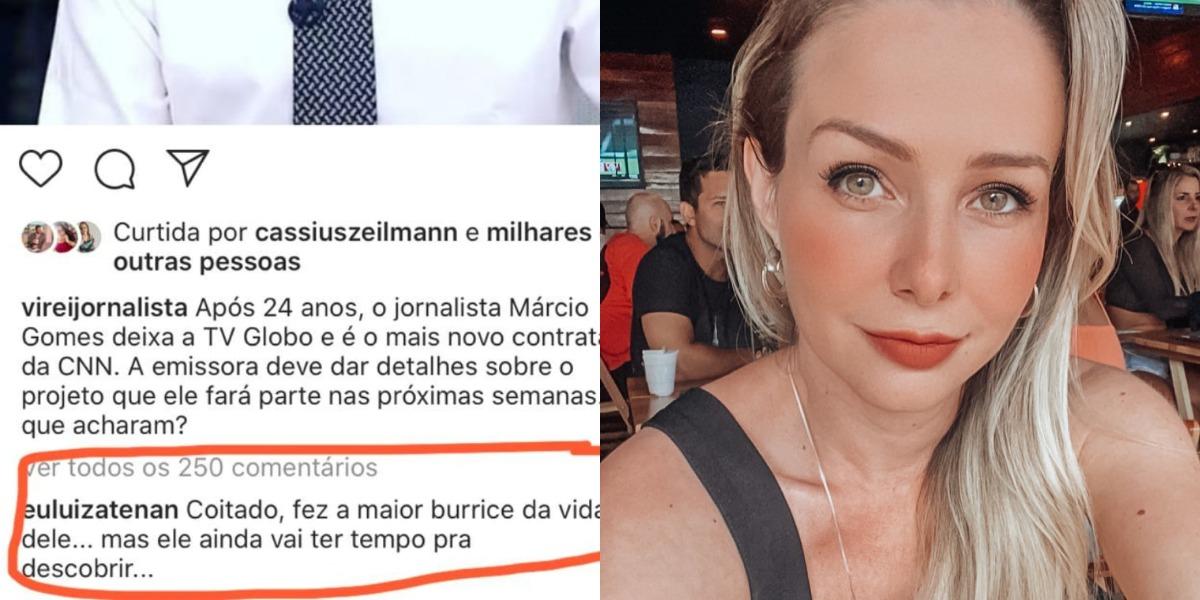Luiza Tenan mandou recado polêmico sobre Márcio Gomes (Foto: Reprodução/Instagram)