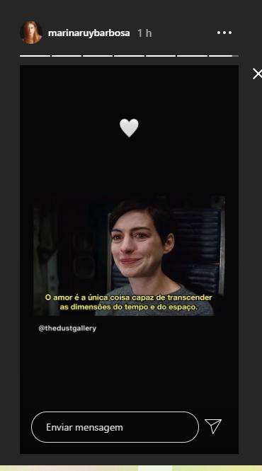 Marina Ruy Barbosa compartilha mensagem (Foto: Reprodução)