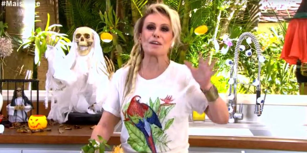 """Ana Maria no """"Mais Você"""" de hoje com dreads (Foto: Reprodução/TV Globo)"""