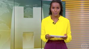 Maju Coutinho se mostrou desolada durante o 'Jornal Hoje' do último feriado (Foto: reprodução)
