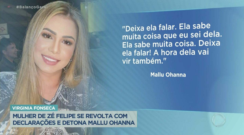 Mallu Ohanna mandou uma indireta para Virgínia Fonseca (Foto: reprodução/Record)