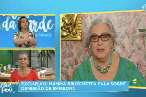 Mamma Bruschetta abriu o jogo sobre sua saída do SBT em uma entrevista com Catia Fonseca (Foto: reprodução/Band)