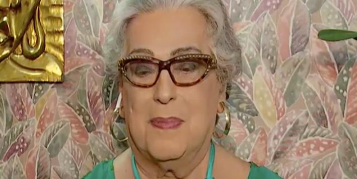 Mamma Bruschetta cedeu uma entrevista para Catia Fonseca (Foto: reprodução/Band)