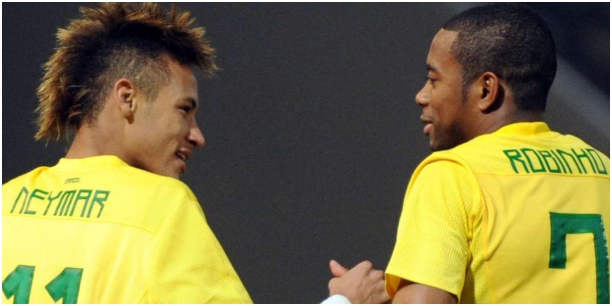 Neymar surpreendeu ao comemorar volta de Robinho - Foto: Reprodução