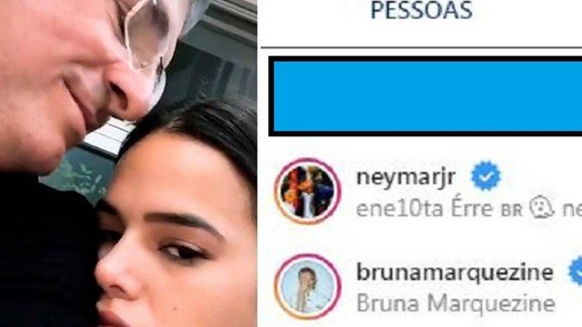 Pai de Bruna Marquezine começou a seguir Neymar (Foto: Reprodução)