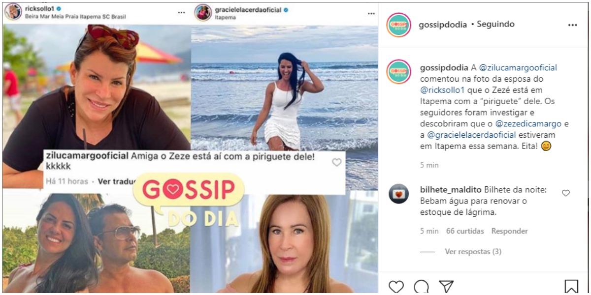 Zilu xinga Graciele nas redes sociais e público massacra empresária (Foto: Reprodução)