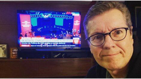 Márcio Gomes usou as redes sociais para mostrar que estava tietando a CNN (Foto: Instagram)