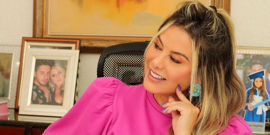 Poliana Rocha é casada com o cantor Leonardo há vinte e três anos (Foto: reprodução)