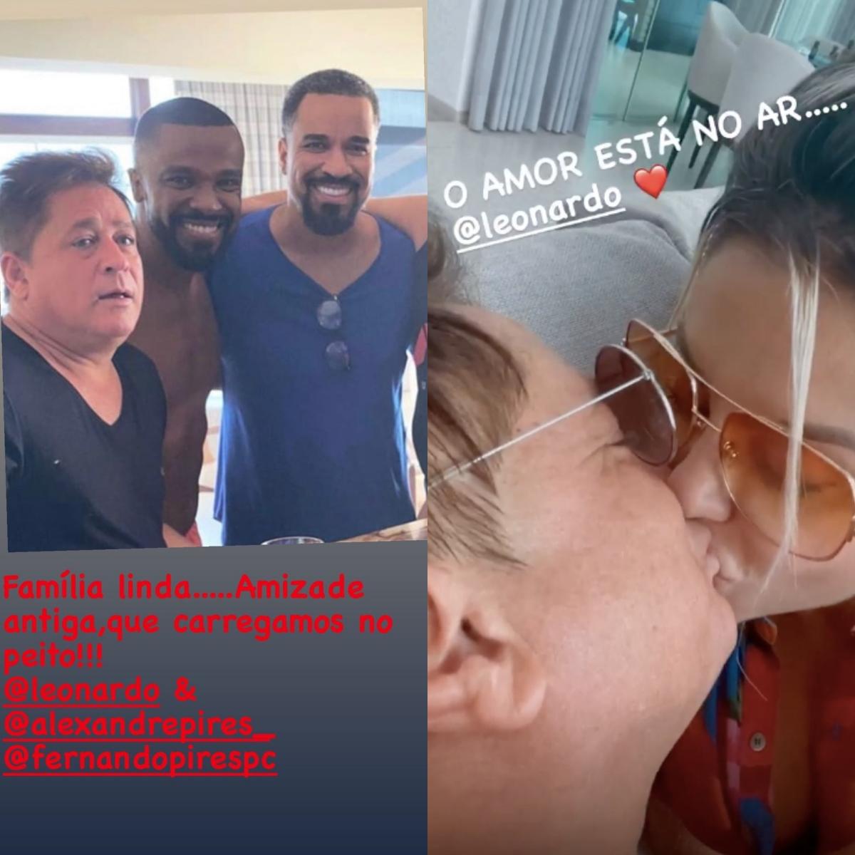 Poliana Rocha surgiu romântica com Leonardo após viajar (Foto: reprodução/Instagram)