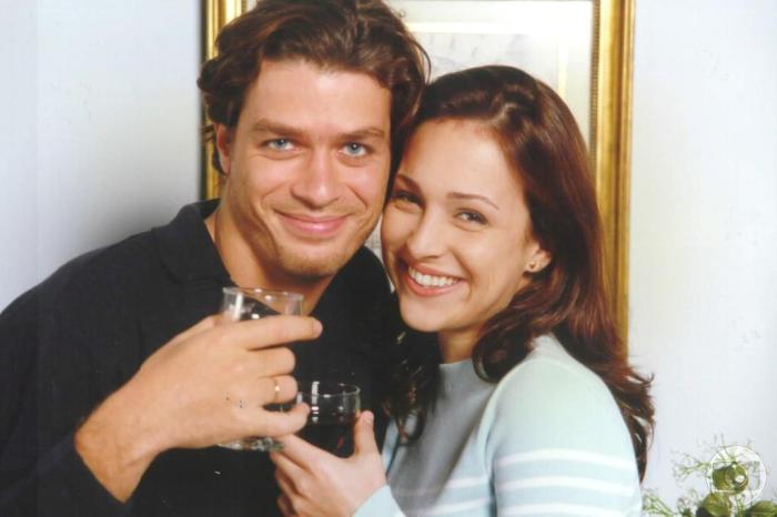 A novela Por Amor com os atores Fábio Assunção e Gabriela Duarte (Foto: Reprodução)