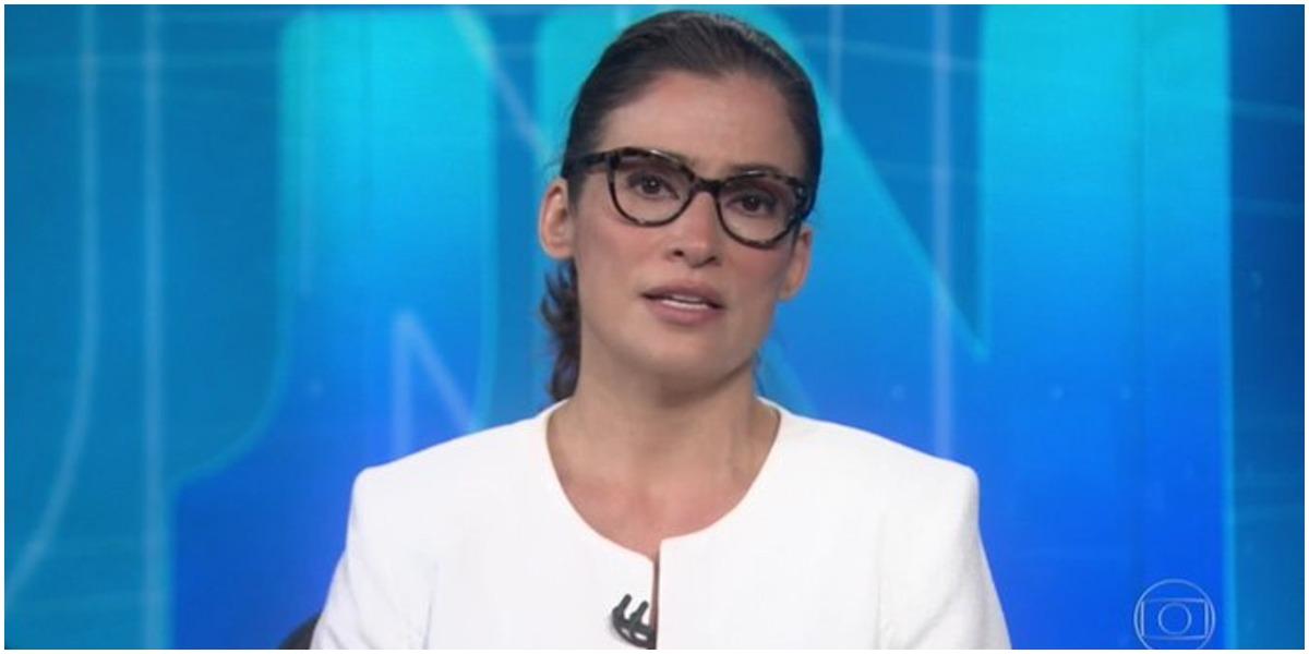 Renata Vasconcellos é responsável pelo Jornal Nacional na Globo - Foto: Reprodução