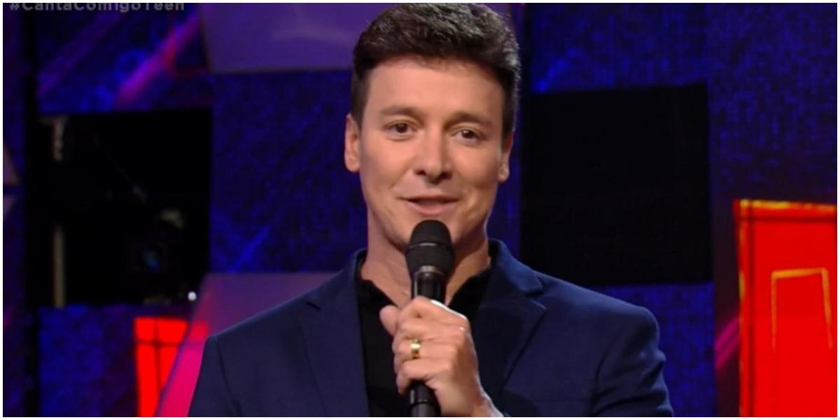 O apresentador Rodrigo Faro comandou o Canta Comigo - Foto: Reprodução