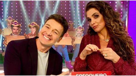 Rodrigo Faro e Luiza Ambiel no programa Hora do Faro (Foto: Reprodução)
