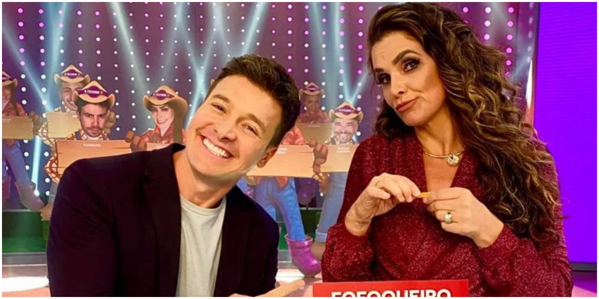 Rodrigo Faro e Luiza Ambiel no programa Hora do Faro - Foto: Reprodução