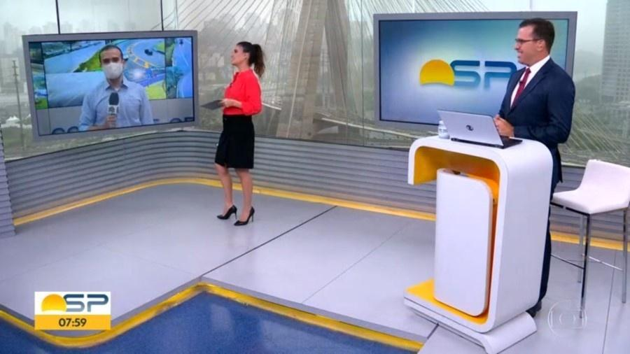 Glória Vanique é chamada durante programa na TV Globo