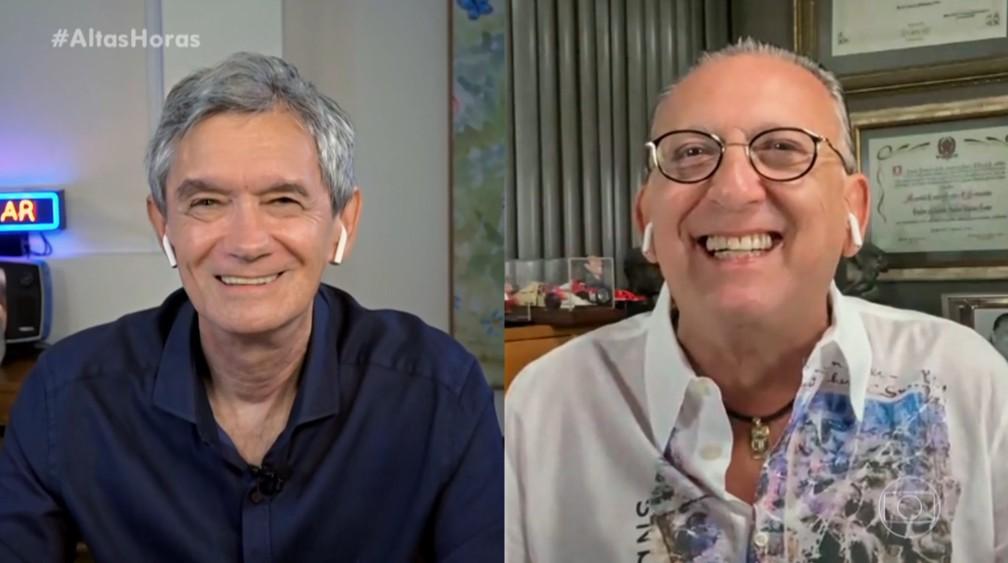 Serginho Groisman e Galvão Bueno (Foto: Reprodução)