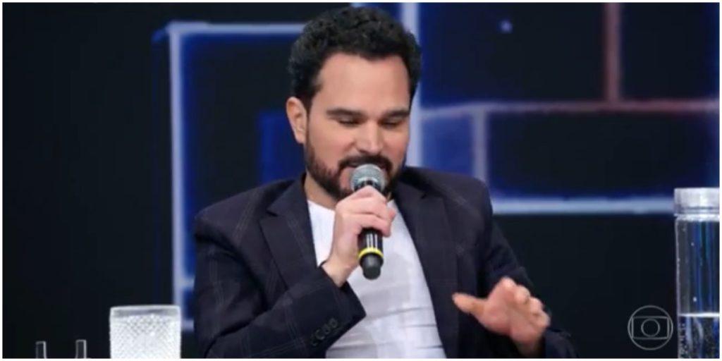 O cantor Luciano Camargo surpreendeu durante o Domingão do Faustão - Foto: Reprodução