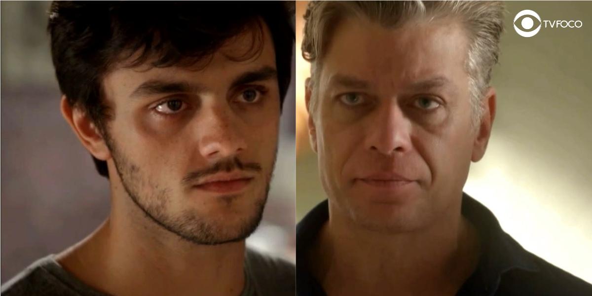 Foto montagem dos rostos de Jonatas e Arthur