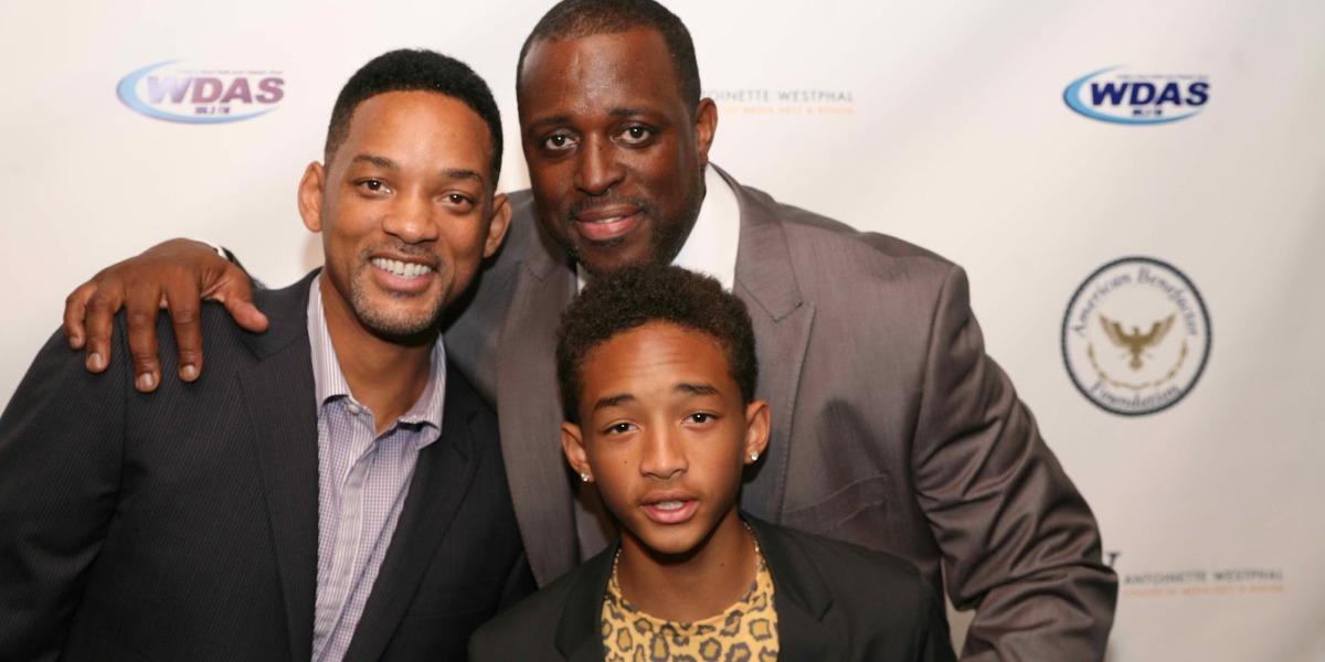 Will Smith, Charlie Mack e Jaden Smith (Foto: Reprodução)