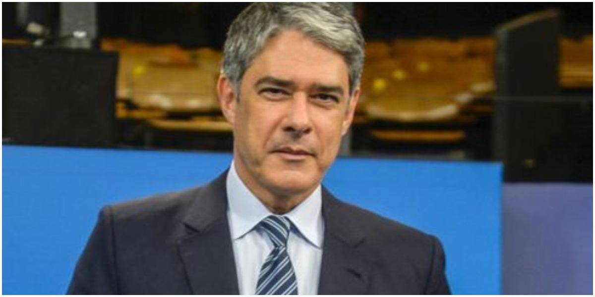 William Bonner trabalha há anos no comando do JN na Globo (Foto: Reprodução)