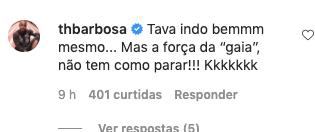 Thiaguinho comenta publicação de Fernanda Souza