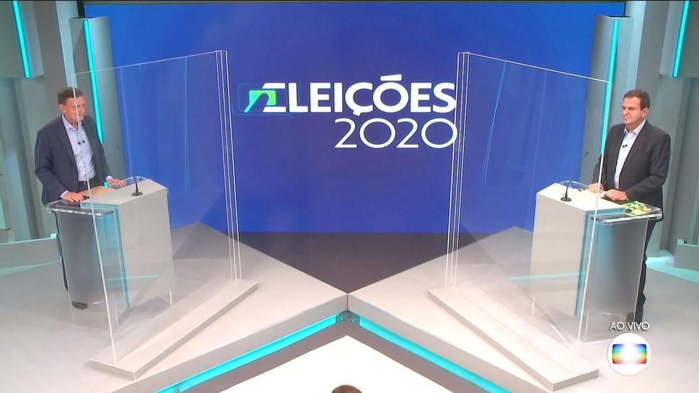 Crivella e Paes se enfrentaram na Globo - Foto: Reprodução