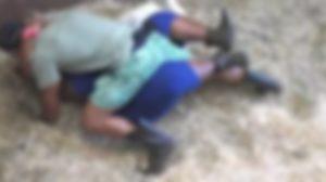 Participantes se atracaram em estábulo da sede (Foto: Reprodução)