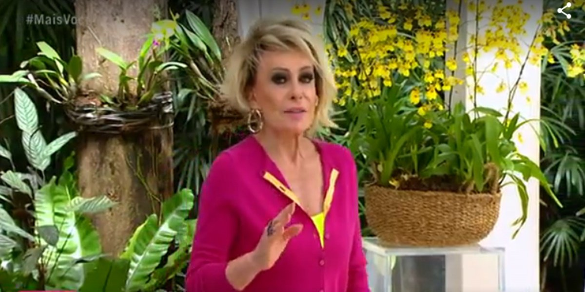 Ana Maria Braga sofreu com falta de retorno ao vivo em seu ponto eletrônico na Globo (Foto: Reprodução)