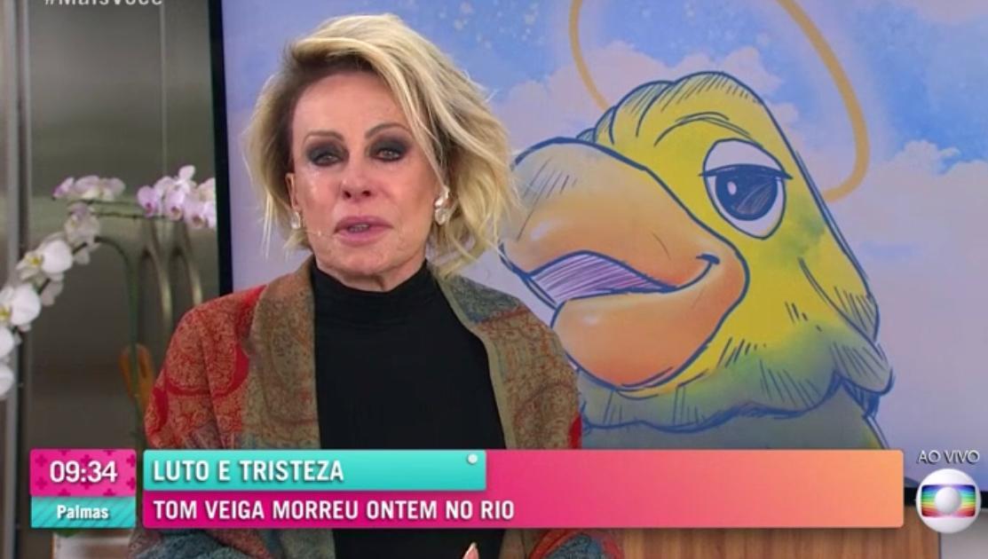 Ana Maria Braga chorou ao vivo ao falar sobre Tom Veiga, o Louro José no Mais Você (Foto: Divulgação)