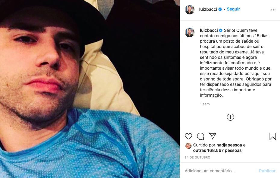 Luiz Bacci deixa fã preocupados