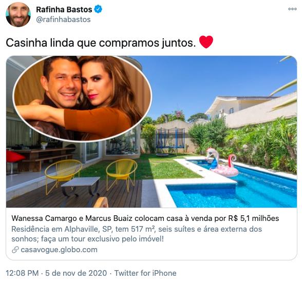 Wanessa Camargo vende mansão (Reprodução: Twitter)