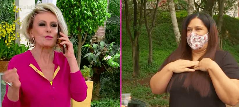 Ana Maria Braga liga ao vivo para telespectador e emociona (Reprodução)