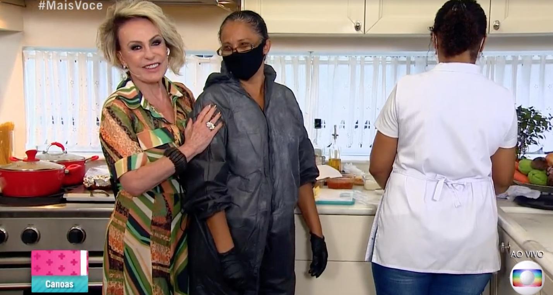 Ana Maria apresenta as cozinheiras do Mais Você (Foto: Reprodução)