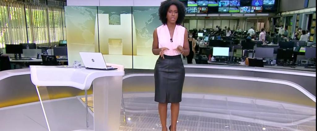 Maju abriu Jornal Hoje às pressas com notícia sobre Bolsonaro (Foto reprodução)
