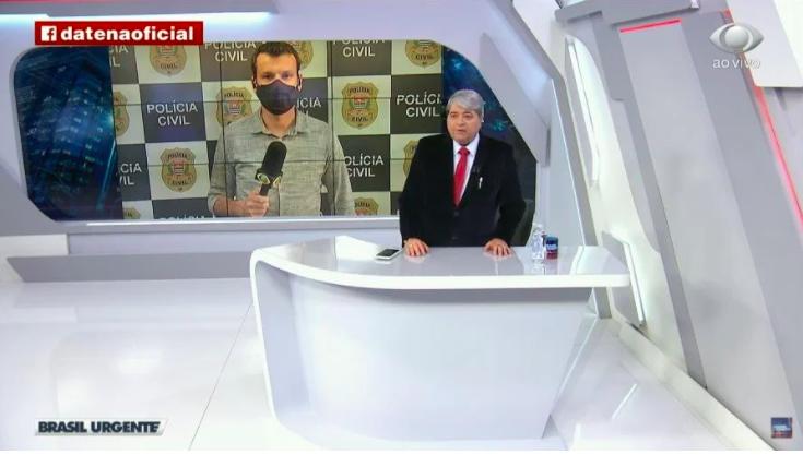 Datena dispensou repórter ao vivo durante programa (Reprodução)